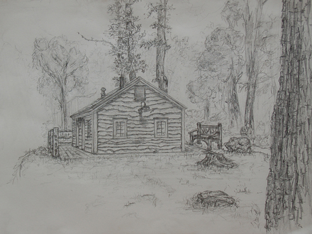 Cabin Drawing by LilioTheOne on Newgrounds Cabin Cartoon Drawing