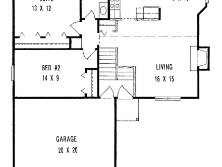Simple house floor plan simple affordable house plans for Minimalist house design 36 72