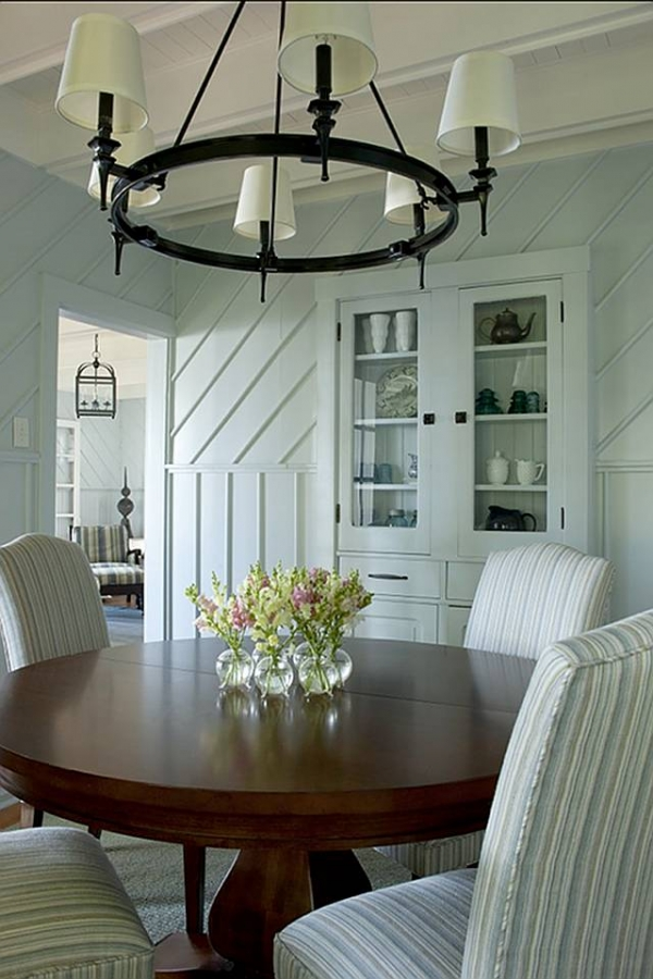 French Country Chandelier Dining Room Rustic