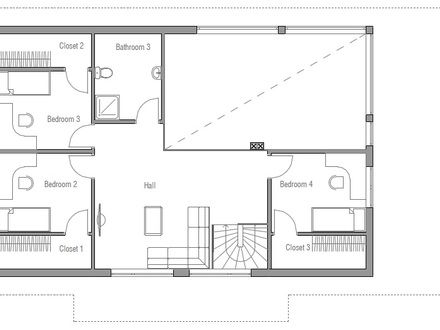 Small Two Bedroom House Plans Small Home Building Plans