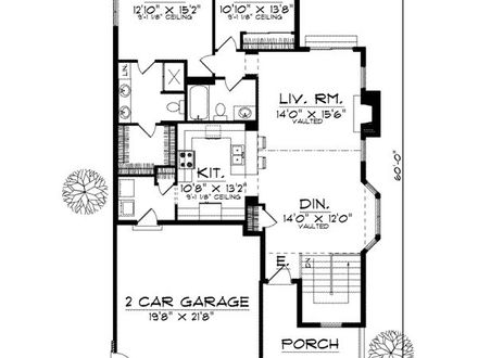 Split-Level Loft Bedroom 2 Bedroom One Level House Plans