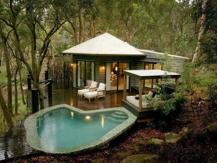 Tiny House with Pool Tiny Pool House Designs
