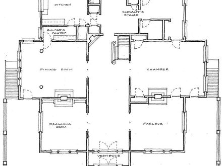 Two-Story Luxury Home Floor Plans Historic Home Floor Plans