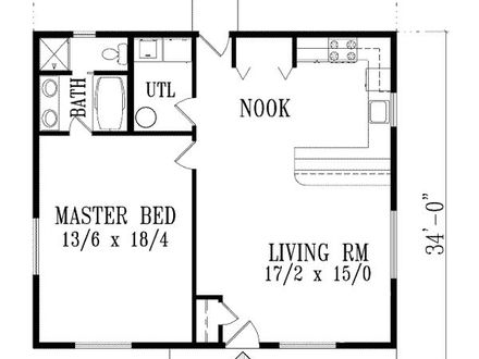 1 Bedroom House Plans with Garage 1 Bedroom Duplex House Plans