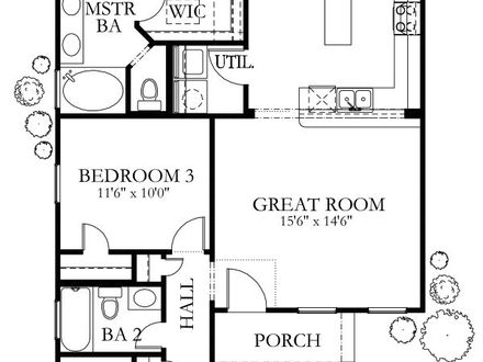 1200 Sq Ft. House Plans 2 Bedrooms 2 Baths 1200 Sq Foot House Plans