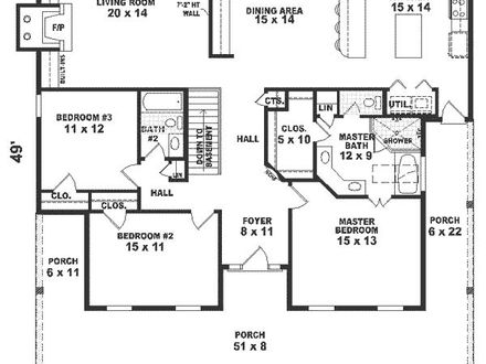 1800 Square Foot House Plans Home Floor Plans 1800 Sq FT 4 BR