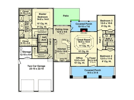 3 Bedroom House Plans USDA Approved House Plans > 3 Bed Bungalow With Bonus and Basement
