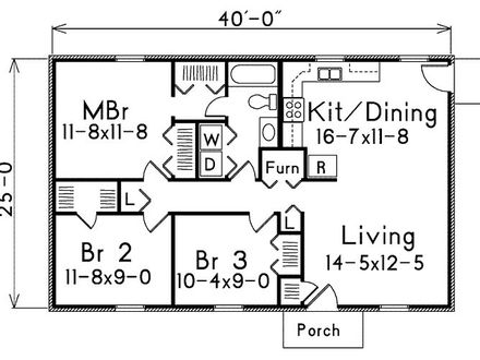 500 Square Foot House 1000 Square Foot House Plans 1 Bedroom