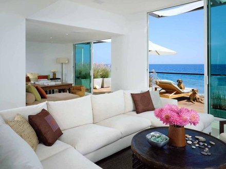 California Beach House Living Room Small Beach House