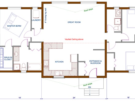 Small log cabin homes floor plans log cabin kits log home for Open concept cabin floor plans