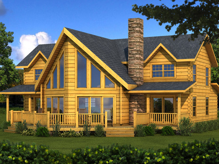 Southland log home river rock pictures southland log home for River rock house plans