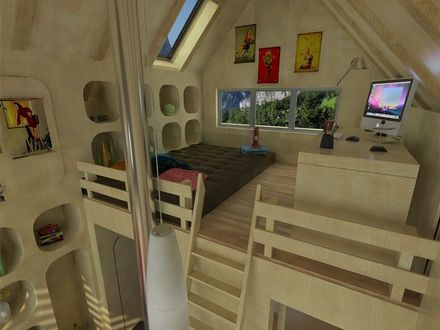 Tiny House Floor Plans with Loft Small Cabins Tiny Houses