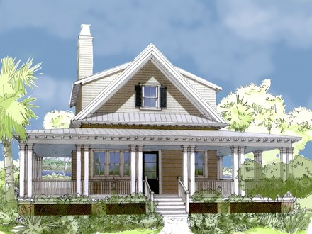 With Best Cottage Plans: Cool Plan Design In 3D View Finished Ith Loft Cottage Floor Plans One Story
