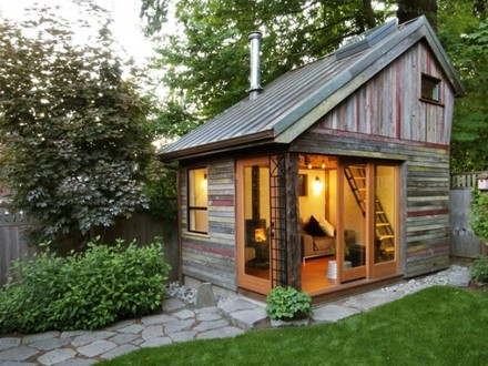Back Yard Guest House Convert Shed into Guest House