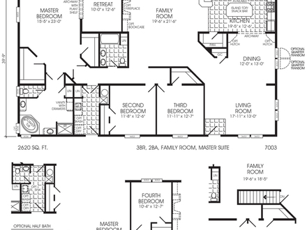 Triple Wide Mobile Home Floor Plans Triple Wide Log Mobile Home