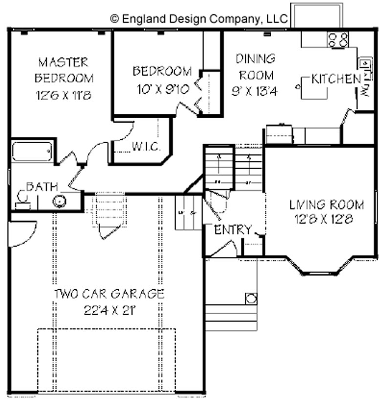 Split-Level Ranch Home Level Split House Plans