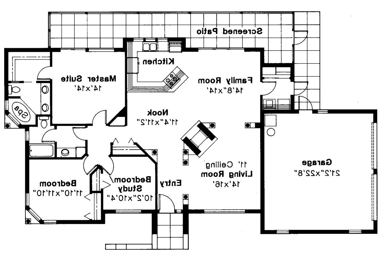 Mediterranean House Plan Carrizo 11 010 Floor Plan Open Floor House Plans