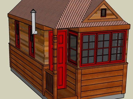Tumbleweed Tiny House Bathroom 3D Tumbleweed Tiny House